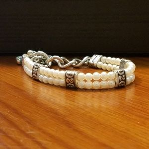 Brighton Double Row Pearl Bracelet
